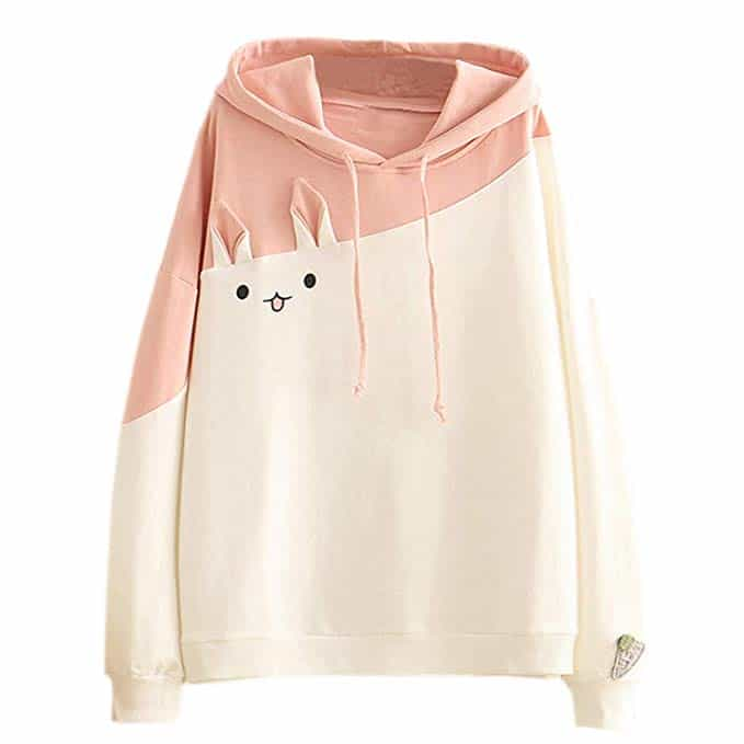 ropa kawaii anime de mangas largas color pastel